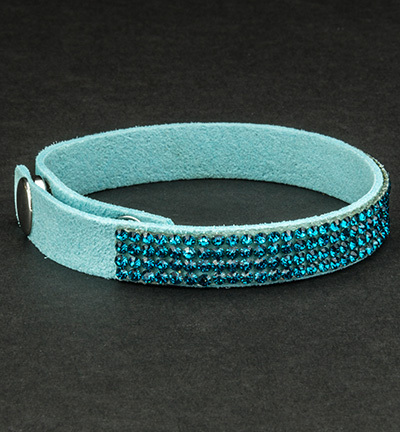 Faux Suede Bracelet With Jewelry Turquoise