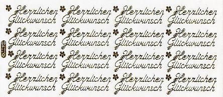 Stickerbogen Herzlichen Gluckwunsch Gold Stober Stubchen