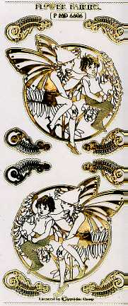 Flower Fairies Sticker (transparent-gold)