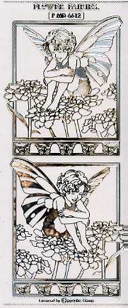 Flower Fairies Sticker (transparent-silber)