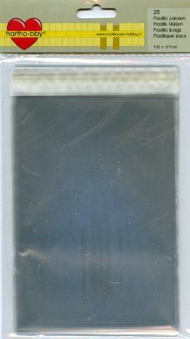 25 Klarsichthüllen C6 selbstkl. 120 mm x 167 mm
