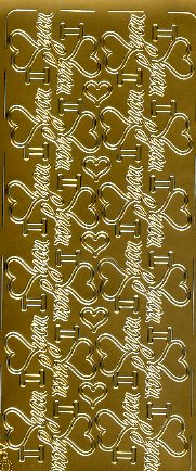 "Stickerbogen ""I Love you"" (gold)"