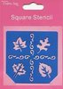 "Crafts-Too Schablone ""Square Stencil - Blätter"""
