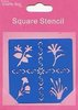"Crafts-Too Schablone ""Square Stencil - Blumen"""