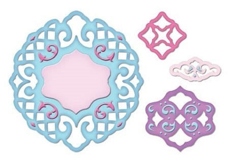 Spellbinders Stanzschablonen Lattice Pendants S4-210