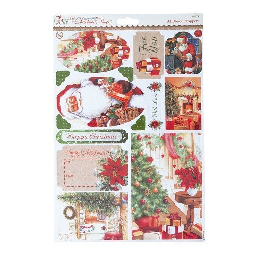 "*1 Stanzbogen ""At Christmas Time"" A4"