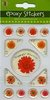 "EPOXY Sticker ""Blume, orange"""