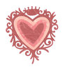 Sizzix Stanzschablonen Frame Heart w/Crown