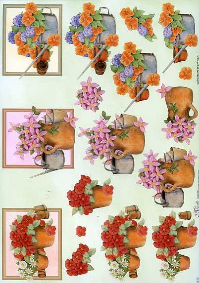 3 d schneidebogen untersch topfblumen st ber st bchen. Black Bedroom Furniture Sets. Home Design Ideas