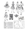 "Marianne design Clear Stamps ""Fabulous Fifties"""