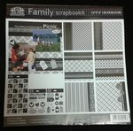 Papier + Sticker-SET Family Scrapbookit