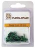 Floral glitter brads GB007 bottle green 40 Stück