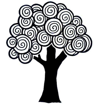 *CREATIVE EXPRESSIONS - Stempel CURLY TREE (Baum)