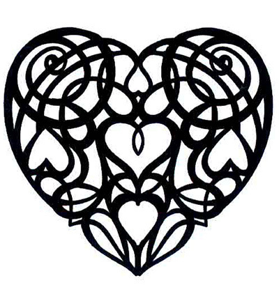CREATIVE EXPRESSIONS - Stempel SCROLL HEART