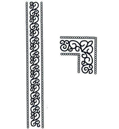 CREATIVE EXPRESSIONS - Stempel SCROLL BORDER AND CORNER