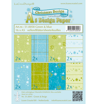 Hintergrundpapier Christmas Design 16 x A5*