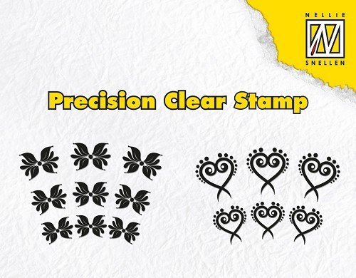 *Clear Stamps - Exotic flower and heart