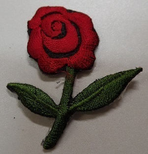 Applikationen Stickmotiv Rose, rot