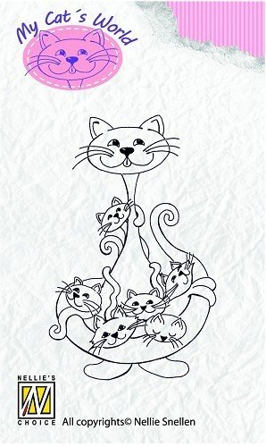 "Nellies Snellen Clear Stamps My Cat's World ""Babysitter"""