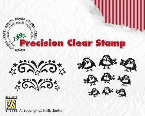 *Nellie Snellen Clear Stamps - Starbust - Robin