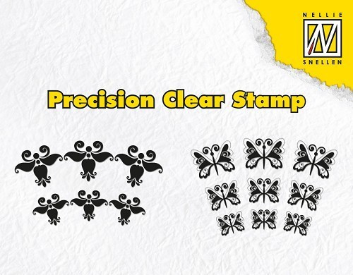 *Clear Stamps - Lyric flower and butterfly
