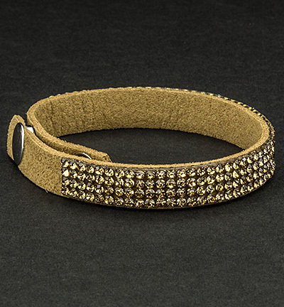 Faux Suede Bracelet With Jewelry Nude