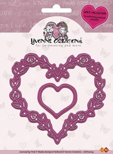 Yvonne Creations - Stanzschablone Rose Heart