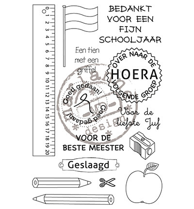 "Marianne design ""Clear Stamps - School stamp - NL"""