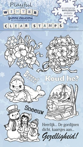 10 Clear Stamps Playful WINTER