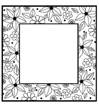 CREATIVE EXPRESSIONS - Stempel Floral Doodle Square