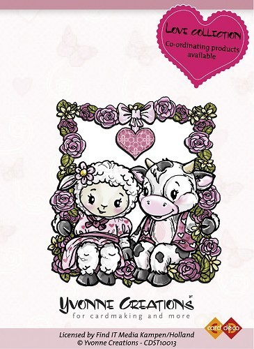 "Yvonne Creations Clear Stamp ""Happy Couple"""
