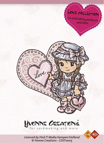 "Yvonne Creations Clear Stamp ""Love Collection - Girl"""