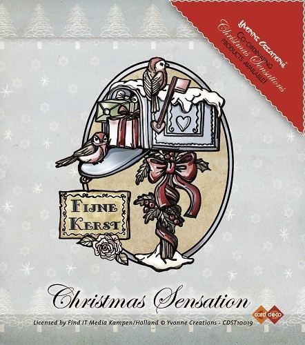 Clear Stamp Christmas Sensation Kerstbrievenbus