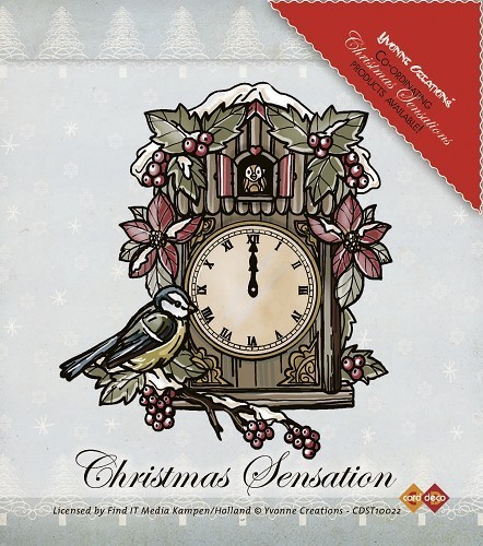 "Clear Stamp ""Christmas Sensation - Clock"""