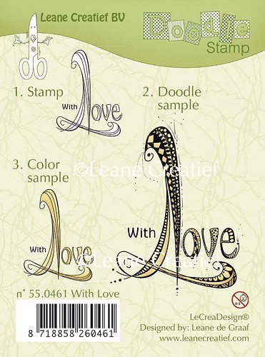 Leane Creativ - Doodle Silikon Stempel With Love