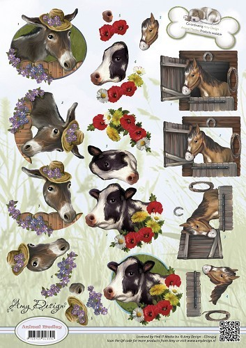"Amy Design - 3-D Schneidebogen ""Animal Medley - Farm Animals"""