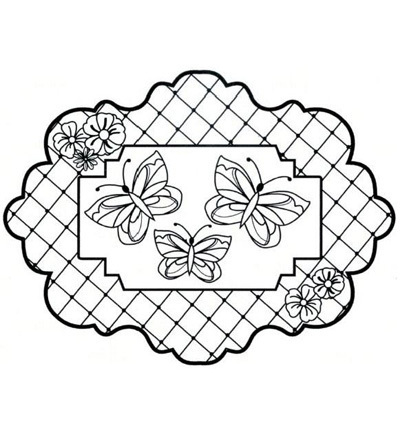 CREATIVE EXPRESSIONS - Stempel Butterfly Trellis