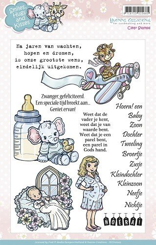 9 Clear Stamps Baby - Smiles, Hugs and Kisses