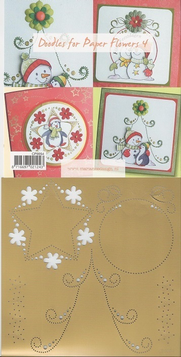 "Marianne design Stickschablone ""Doodles for Paper Flowers 4"""