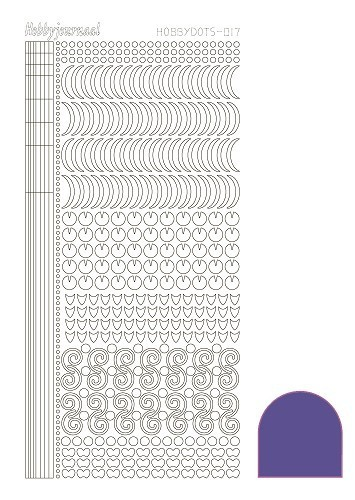 "Sticker ""HOBBYDOTS017"" Mirror Violet"