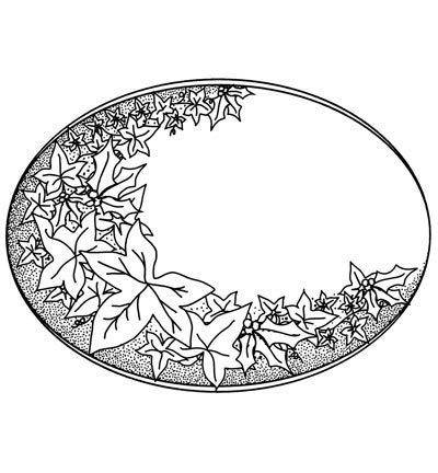 CREATIVE EXPRESSIONS - Stempel Holly & Ivy Plaque
