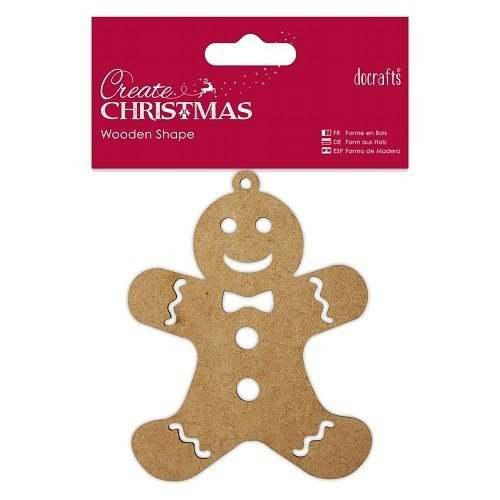 "Docrafts ""Create Christmas"" Holz-Anhänger ""Gingerbread Man"""