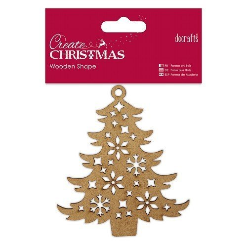 "Docrafts ""Create Christmas"" Holz-Anhänger ""Decorative Tree"""