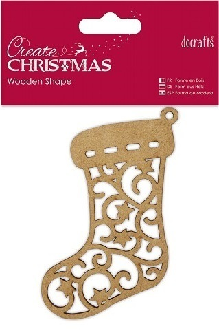 "Docrafts ""Create Christmas"" Holz-Anhänger ""Stocking"""