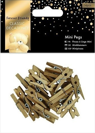 Mini Klammern (24pcs) - Forever Friends - Classic Decadence - Gold