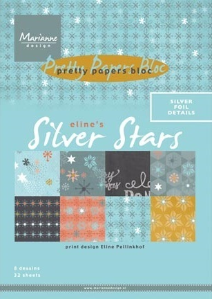 Pretty Papers Bloc Eline's Silver Star 32 x A5
