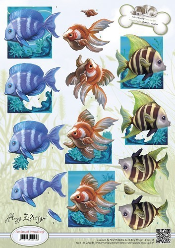 "Amy Design Schneidebogen ""Animal Medley Fische"""