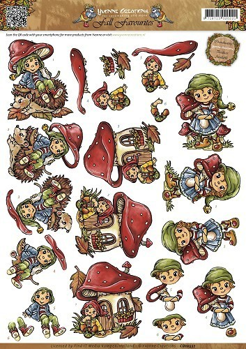 *3D Schneidebogen Fall Favourites Sweet Gnomes