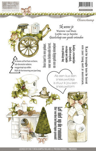 "PRECIOUS MARIEKE ""Clear Stamps - Rustic Christmas"""