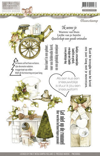 PRECIOUS MARIEKE Clear Stamps Rustic Christmas
